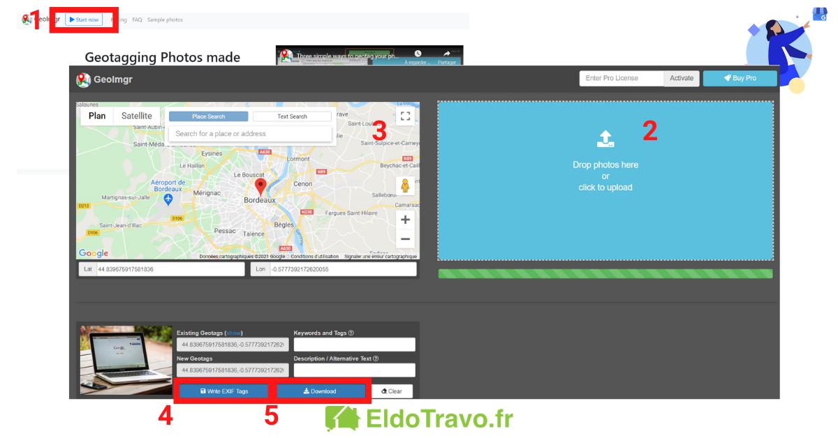 géolocaliser une photo pour google par Eldotravo