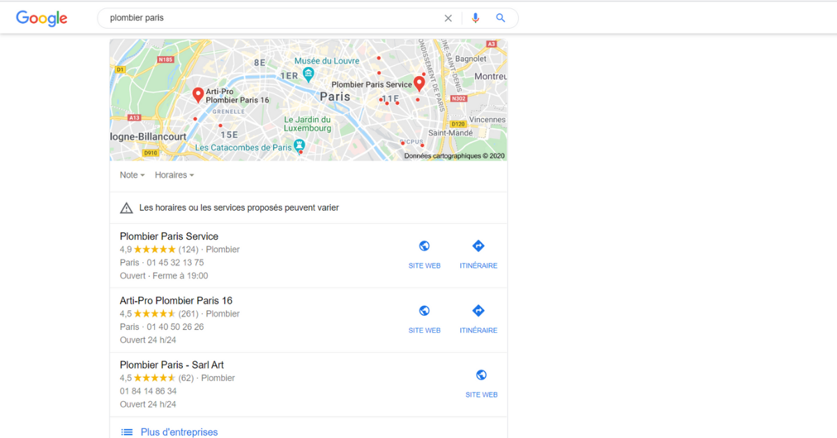 recherche google ref local