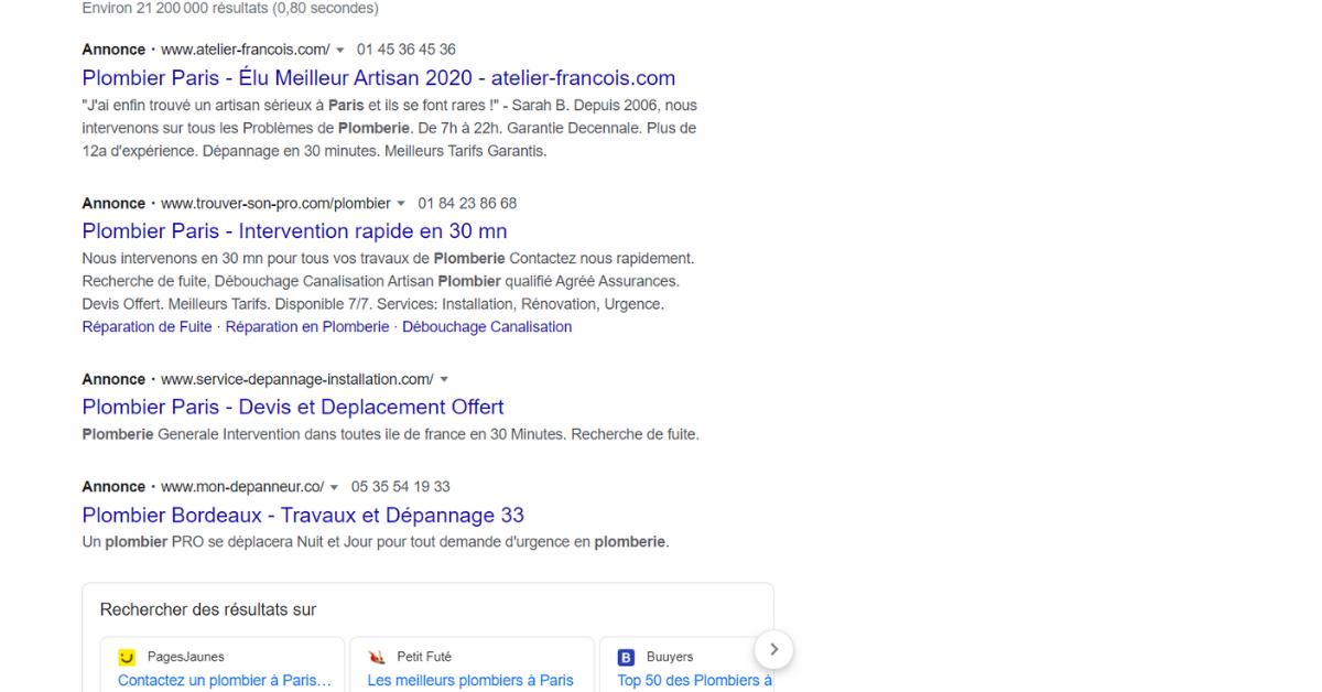 recherche google sea
